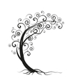 silhouette tree vector image