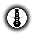 Snowman button vector image vector image