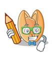 student pistachio nut character cartoon vector image vector image