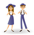 students friends standing together on a white vector image vector image