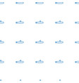 submarine icon pattern seamless white background vector image vector image