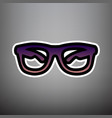 sunglasses sign violet vector image vector image