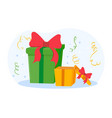 surprise gift box for birthday celebration vector image