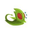 sweetly sleeping baby dragon cartoon character of vector image vector image