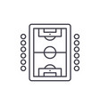 table soccer play line icon concept table soccer vector image vector image