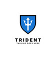 trident logo design inspiration vector image vector image