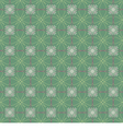 Vintage Flowers Graphic On Green Background vector image vector image
