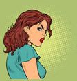 woman on face emotion disgust vector image vector image