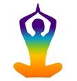 yoga color vector image vector image