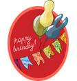birthday greeting card with balls vector image