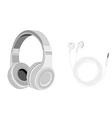 Headphones and earphones vector image