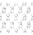 french bulldog on white background vector image