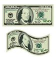 100 dollars on white background Money isolated US vector image vector image