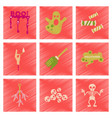 assembly flat shading style icons halloween boo vector image vector image
