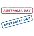 Australia Day Rubber Stamps vector image vector image