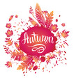 autumn bright card vector image vector image