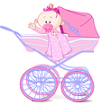 bagirl in carriage vector image vector image