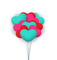 Balloon heart valentines background vector image vector image
