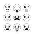bitcoin emoji emoticons or smile emotional icons vector image