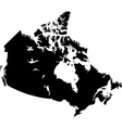 Black Canada map vector image vector image