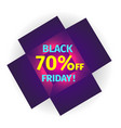 black friday banner in the form of an open box vector image vector image