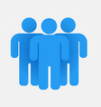 blue people group teamwork concept business icon vector image vector image
