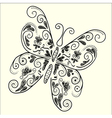 Butterfly black white vector image vector image