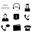 Call centre icons vector image vector image