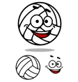 Cartoon cute volleyball ball vector image vector image