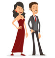 cartoon flat handsome lady and gentleman character vector image