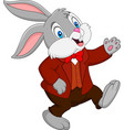 cartoon happy rabbit vector image vector image