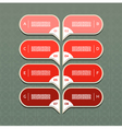 charts with eight steps in red vector image vector image