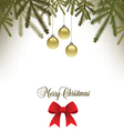 Classic Christmas background with a bow vector image vector image