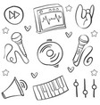 collection stock music various hand draw doodles vector image vector image