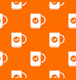 cup of tea pattern seamless vector image vector image