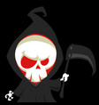 cute cartoon grim reaper with scythe vector image