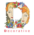 D decorative vector image vector image
