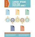 Document layout Infographic elements Timeline vector image vector image