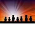 Easter Island Monument Statues Moai vector image