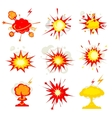 Explosion blast or bomb bang fire vector image
