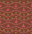 festive christmas star ornaments vector image