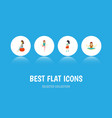 flat icon pregnancy set of mother fitness pose vector image vector image