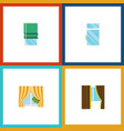 flat icon window set of glass frame glass clean vector image vector image