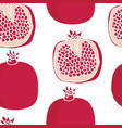 food collection pomegranates seamless pattern vector image vector image