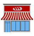 front view of a bakery vector image vector image