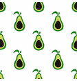 funny avocado seamless pattern vector image
