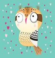funny graphic owl vector image vector image