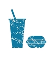 Grunge fast food icon vector image vector image