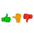 hand with the thumb vector image vector image