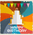 Happy Birthday Card - Retro vector image vector image